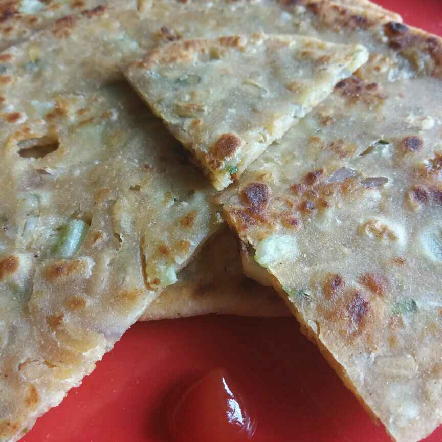 Photo of Sev Chaat Paratha... by brishti ghosh at BetterButter