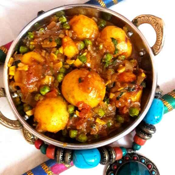 Photo of Potato peas dum curry by brishti ghosh at BetterButter