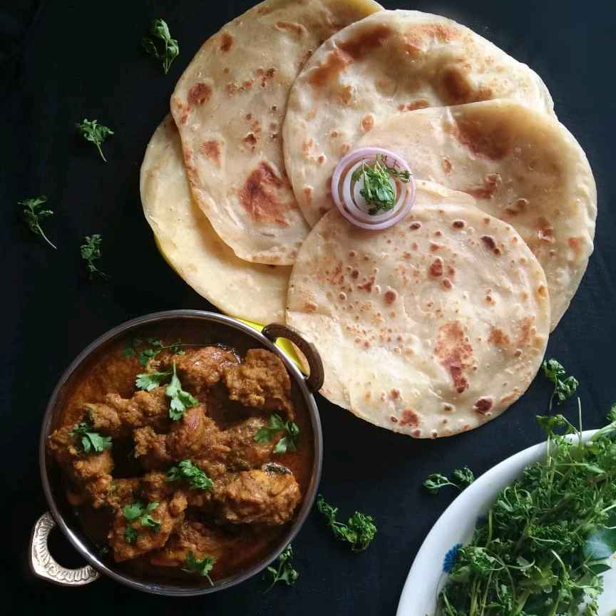 Photo of Chicken Kosha & Dhakai Parantha by brishti ghosh at BetterButter