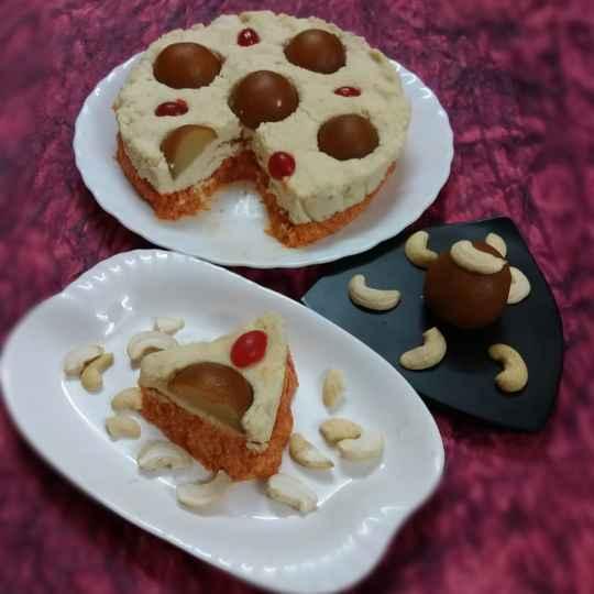 Photo of Carrot Sandesh Cake with Gulabjamun twist by brishti ghosh at BetterButter