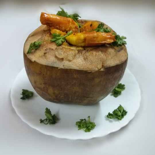 Photo of Prawn Curry in Tender Coconut Shell by brishti ghosh at BetterButter