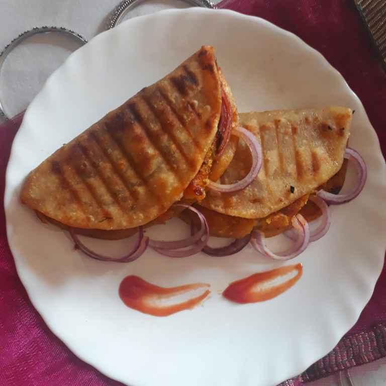Photo of Alu tikki Grilled Prantha by brishti ghosh at BetterButter