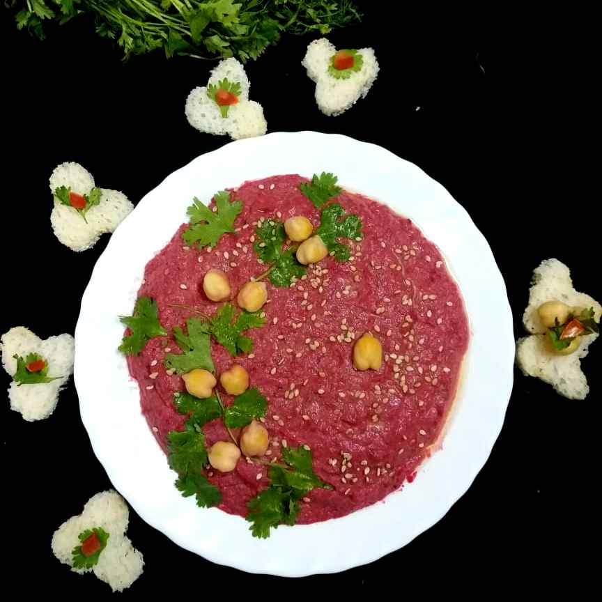 Photo of Beetroot Hummus by brishti ghosh at BetterButter