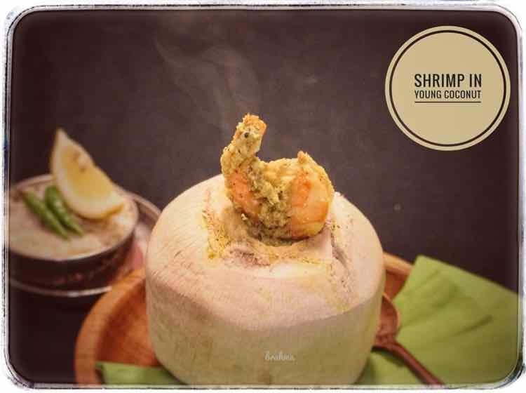 Photo of Shrimp cooked in young coconut by Bulbul Majumder at BetterButter