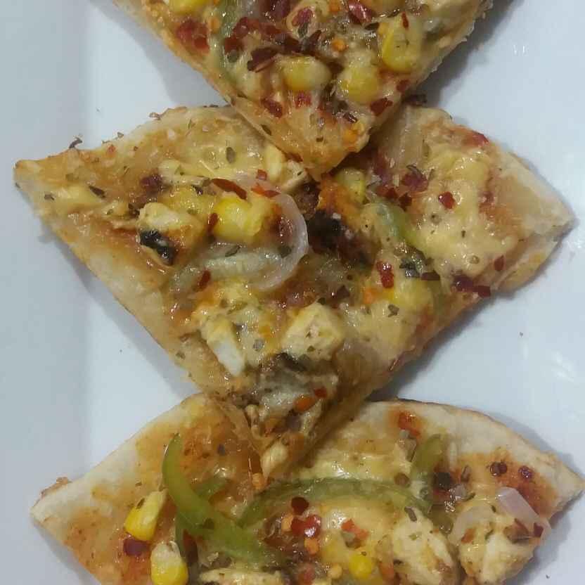 Photo of Veg Pan Pizza without yeast by Chandana Banerjee at BetterButter