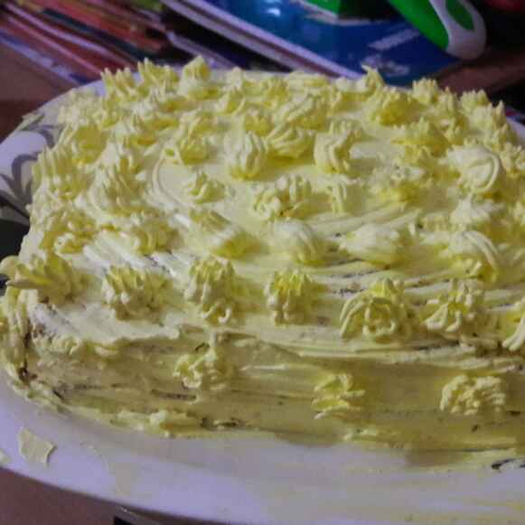 Photo of Eggless Pineapple cake by Chandrani Bhattacharya at BetterButter
