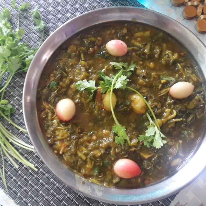 Photo of Leafy veg vakkaya grevy curry by Chandrika Marripudi at BetterButter