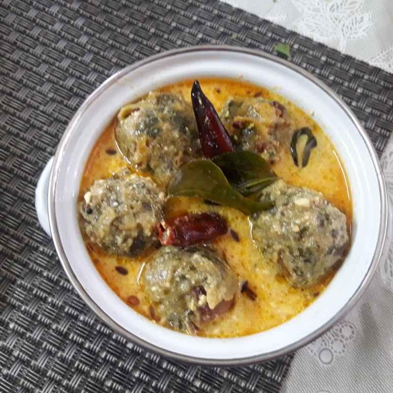 Photo of Spinach pakoda kadhi  by Chandrika Marripudi at BetterButter
