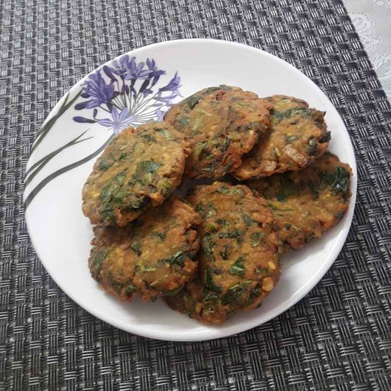 Photo of Amaranth leaves masala vada by Chandrika Marripudi at BetterButter