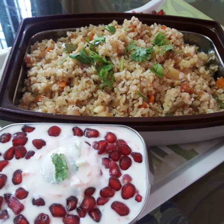 Photo of Veg fried rice with brown rice by Chandrika Marripudi at BetterButter