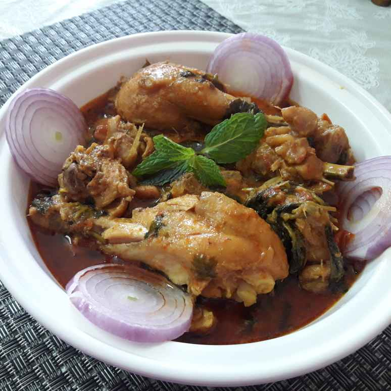 Photo of Mint coconutmilk chicken curry by Chandrika Marripudi at BetterButter