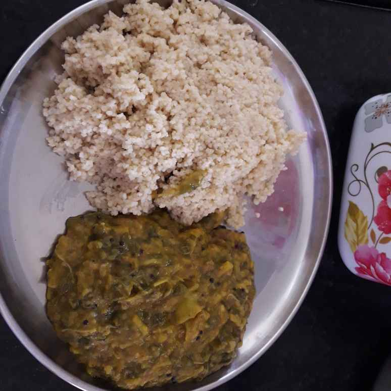 Photo of Greenleaves toordal with foxtailmillet rice by Chandrika Marripudi at BetterButter