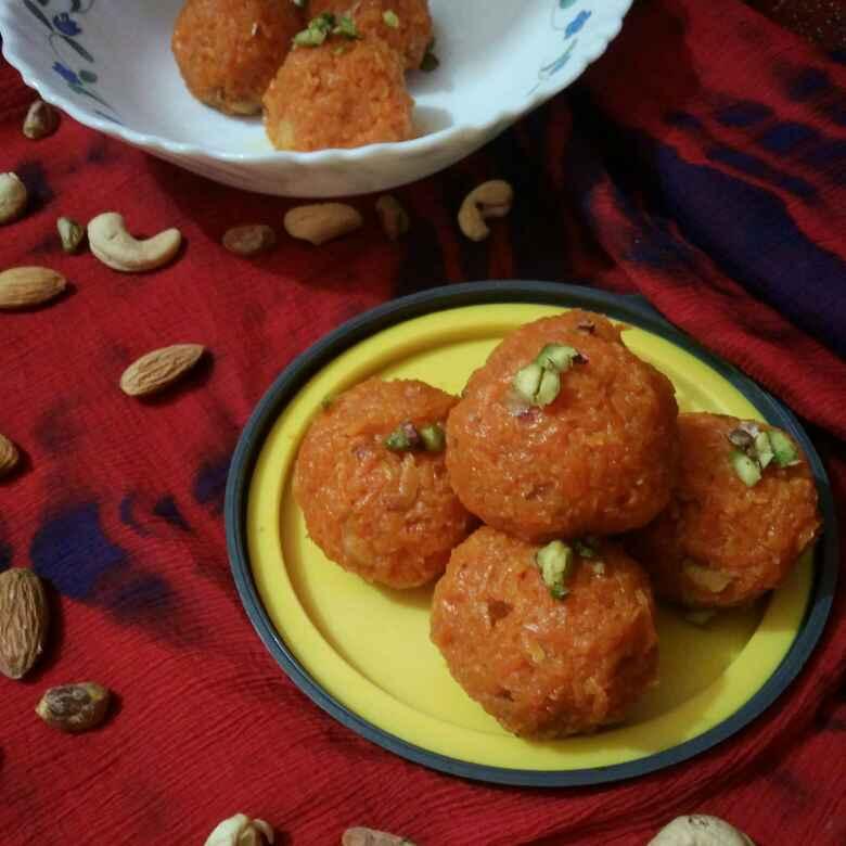 Photo of Carrot Laddu by Chandrima Das at BetterButter