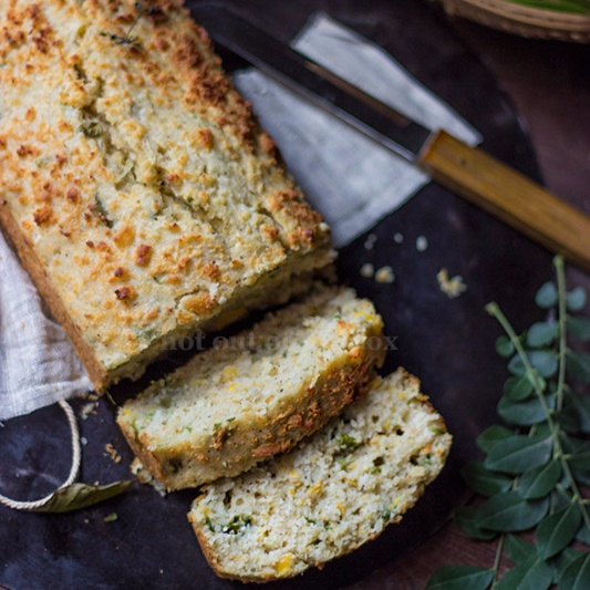 How to make Cheese Sweet Corn Bread (With coconut & curry leaves)