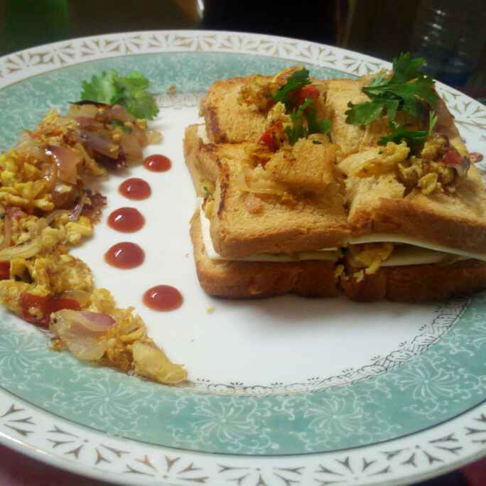 Photo of Bhurji Sandwich by Chandu Pugalia at BetterButter
