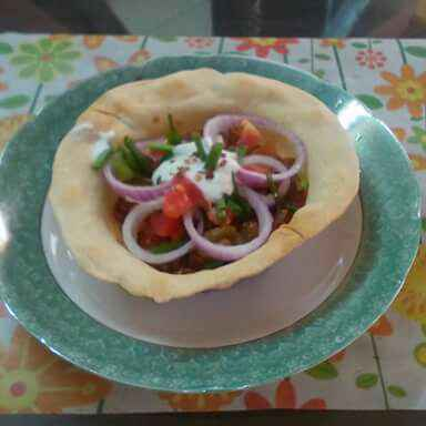 How to make Rajma chaat in taco cup