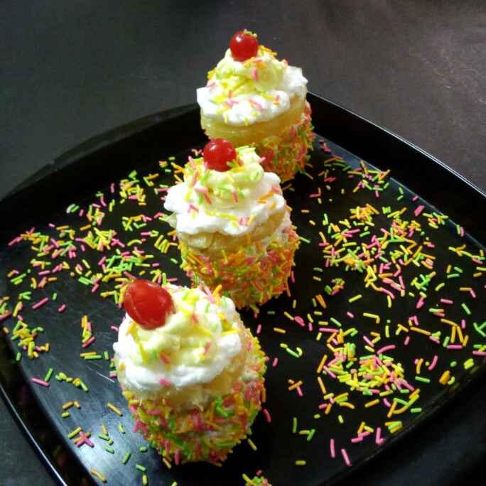 Photo of  No bake mini pineapple cake by Chandu Pugalia at BetterButter