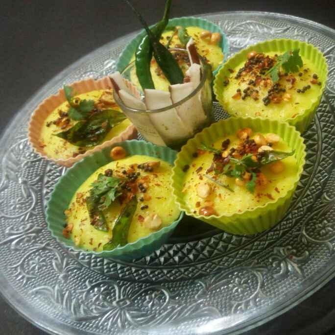 How to make Dhokla cupcake