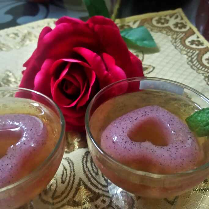 Photo of Litchi juice with Dragon Fruit agar agar by Chandu Pugalia at BetterButter