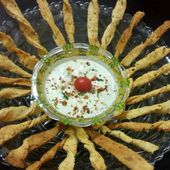 Photo of Crunchy cheesy sticks with yogart cheesy dip by Chandu Pugalia at BetterButter