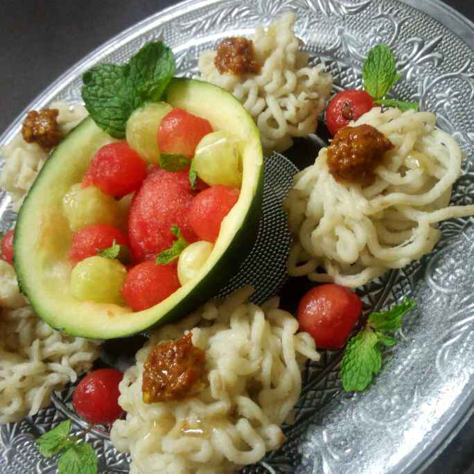 How to make Lauki idiyappam in my style with garlic chutney