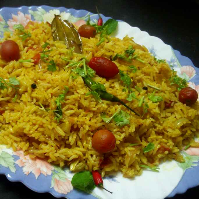 How to make Spicy tomato pulao