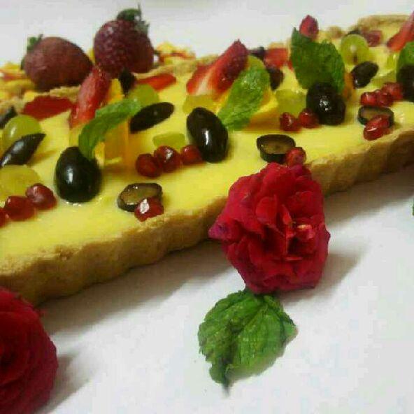 How to make Custard pudding fruity tart