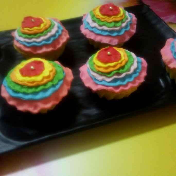 Photo of Colourful cute lemon muffins by Chandu Pugalia at BetterButter