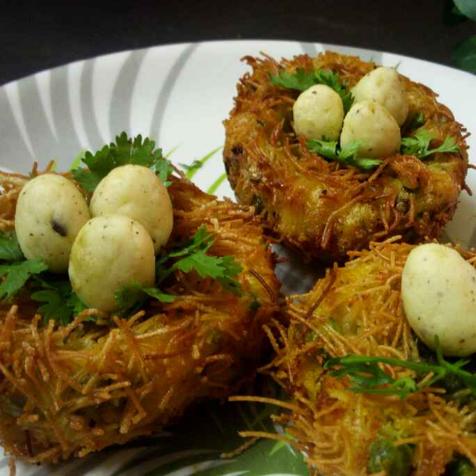 How to make Sweet potato nest