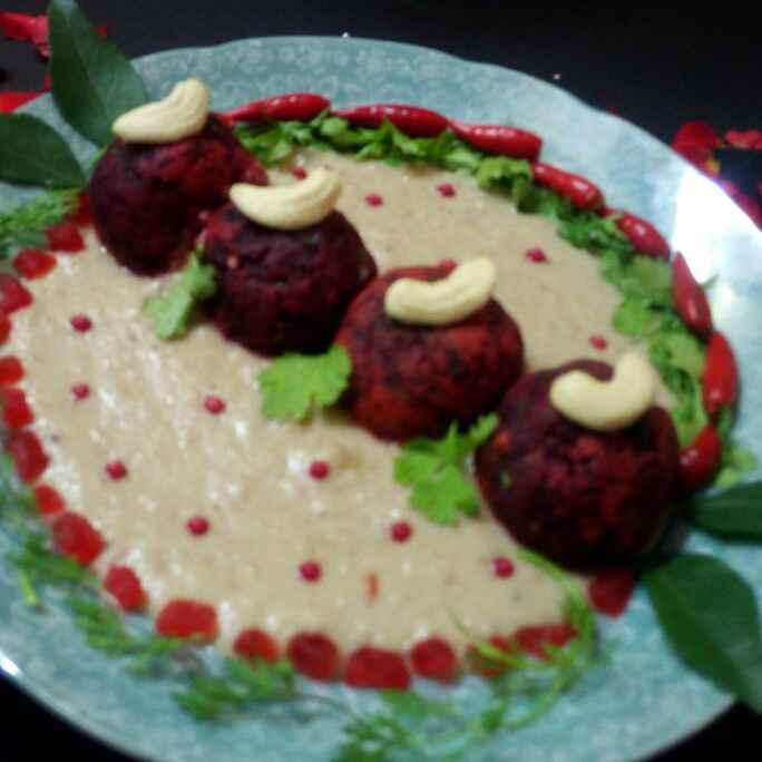 How to make Beet malai kofta in white gravy
