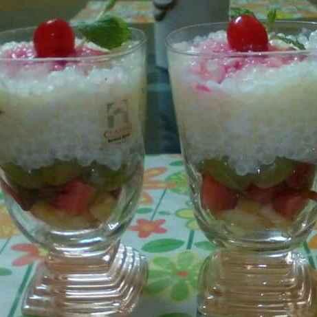 How to make Sago fruity pudding