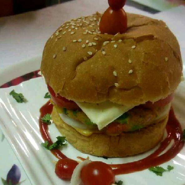 How to make Cheesy veggie burger