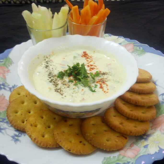 Photo of Cheesy curd carrot dip by Chandu Pugalia at BetterButter