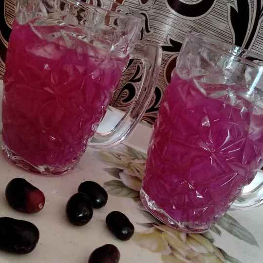Photo of Chilled Blackberry Drink / Black Plum Drink / Jamun ka Sharbat by Charu Aggarwal at BetterButter