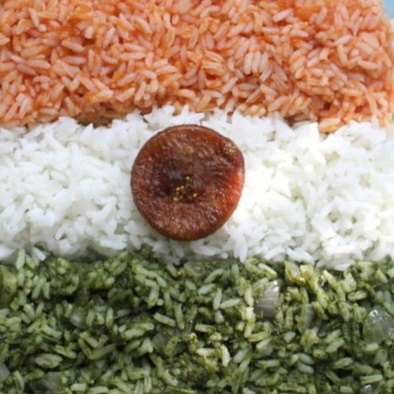 How to make Tri coloured rice