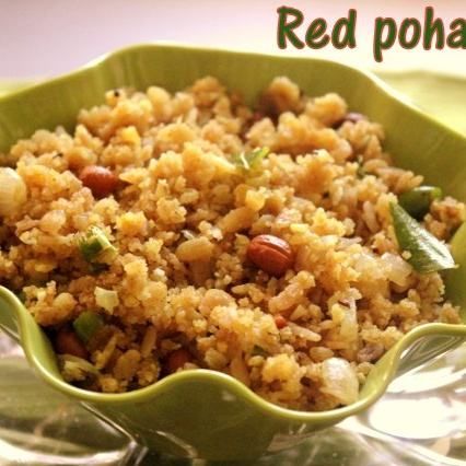 How to make Red poha upma
