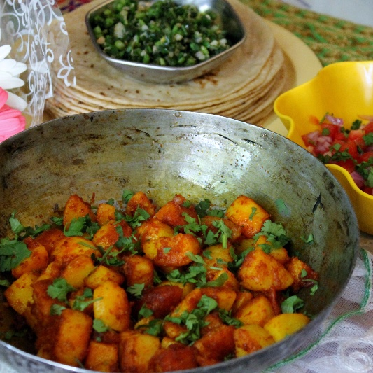 How to make 3 Spice Potato Stir Fry (Sukhi Aloo Sabzi)