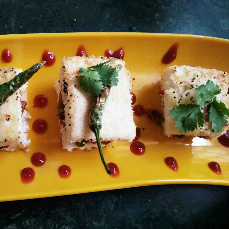 Photo of Spicy Sandwich Dhokla by Chavi Gupta at BetterButter