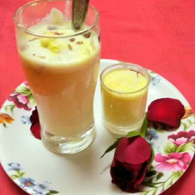 Photo of KESHAR dryfruit cold drink by Chayya Bari at BetterButter