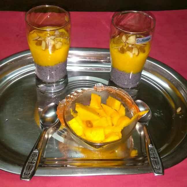 Photo of MANGO milk shake with sabja by Chayya Bari at BetterButter