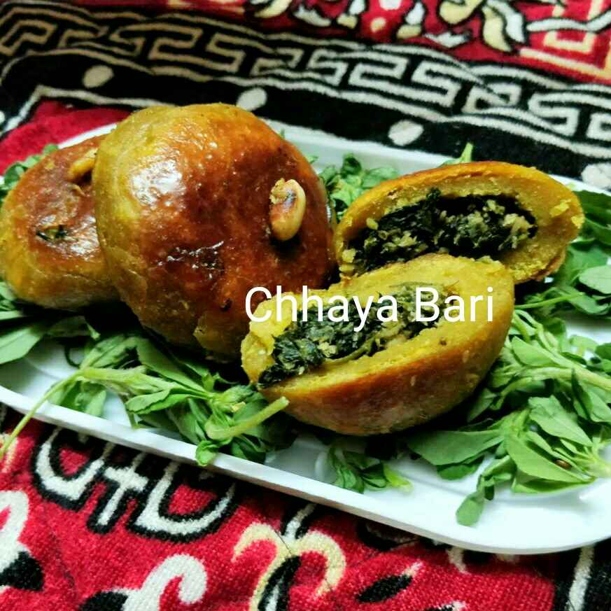 Photo of Methi stuffed bati by Chayya Bari at BetterButter