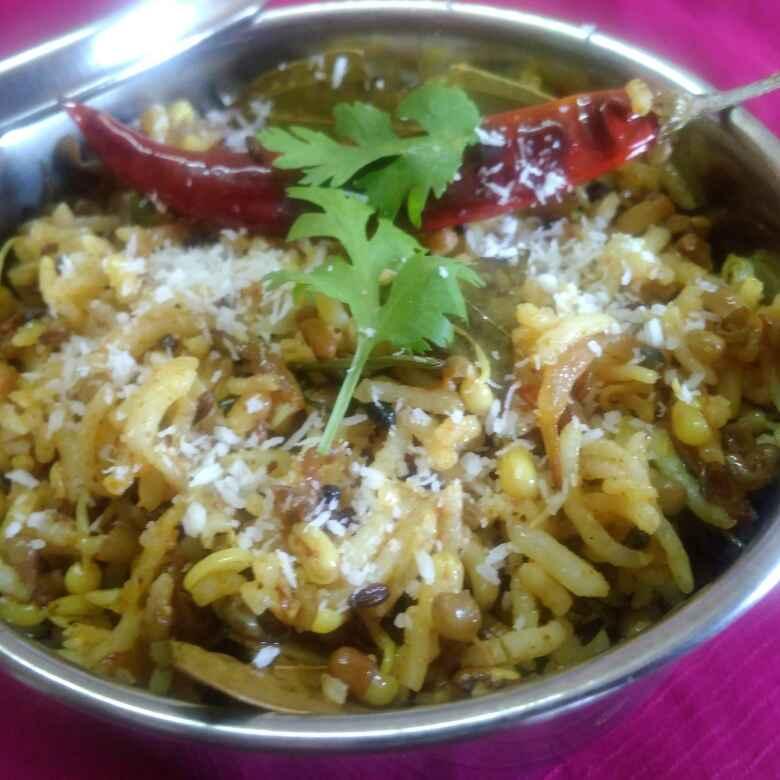 How to make मोठ चावल