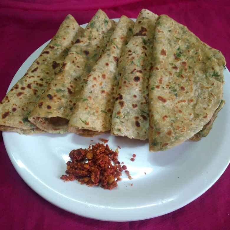 Photo of KOTHIMBIR paratha by Chayya Bari at BetterButter