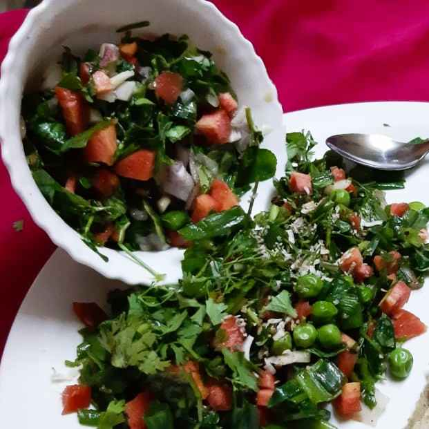 Photo of Methi salad with green peas by Chayya Bari at BetterButter
