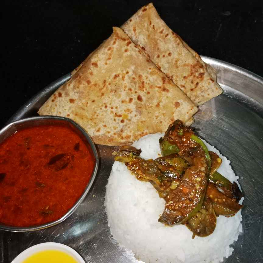 Photo of Puran poli , Aamti. Vangyachi bhaji by Aarti Nijapkar at BetterButter