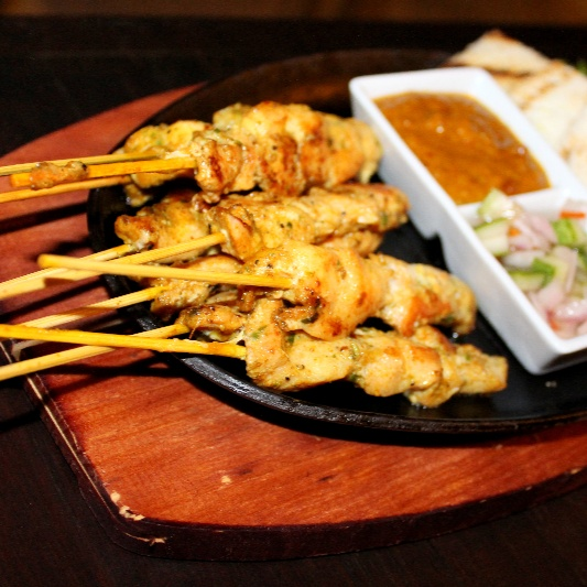 Photo of Thai Chicken Satay (Sate Kai) with peanut sauce. by Chef (Mrs) Reetu Uday Kugaji at BetterButter
