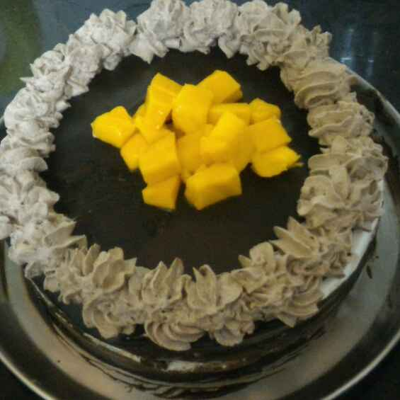 How to make Chocolate mango chiffon cake