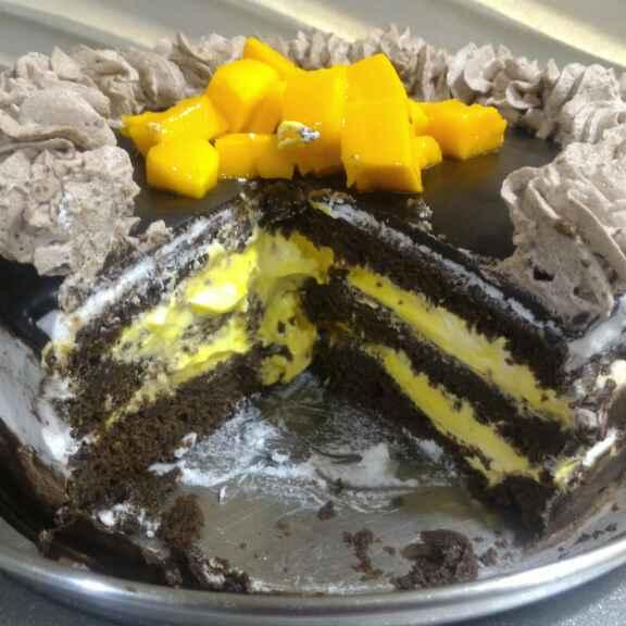 How to make Chocolate mango chiffon cake
