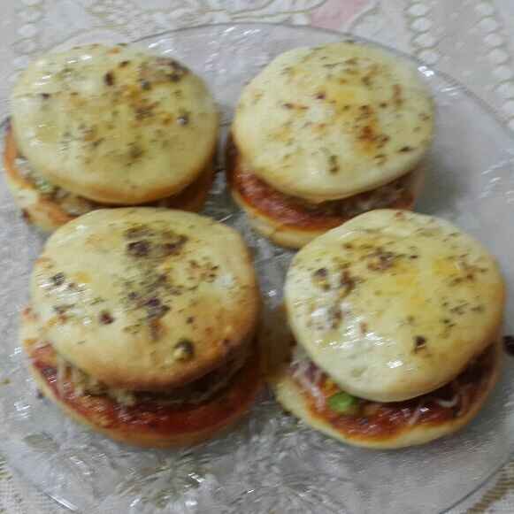 Photo of Fresh dough Pizza Burger by Chetna Parikh at BetterButter