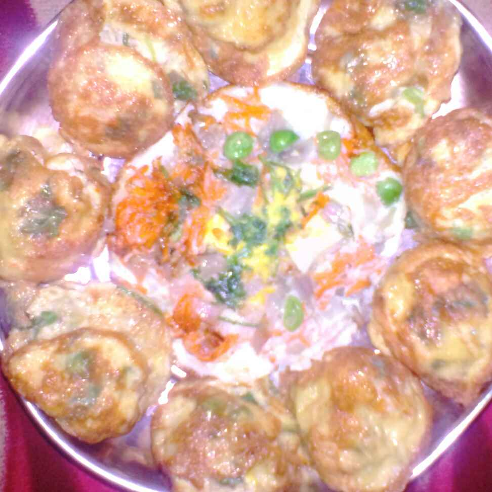 Photo of Carrot,greenpeas,masala egg ponganalu by Chinnaveeranagari Srinivasulu at BetterButter